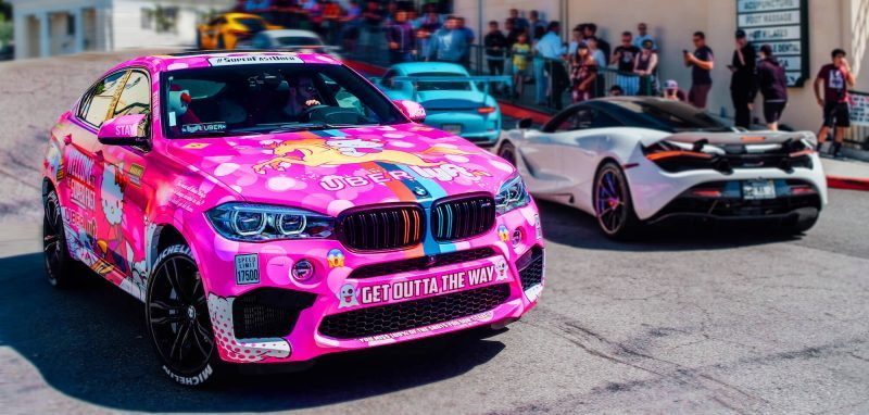 a hello kitty life   : Uber Driver Builds Hello Kitty Car to